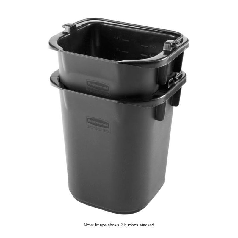 Rubbermaid 1857378 5-Qt Pail - Black