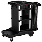 Rubbermaid 1861429 Compact Janitor Cart w/ Tub Top, Black