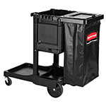 Rubbermaid 1861430 Executive Janitor Cleaning Cart - Locking Cabinet, Trash Cover