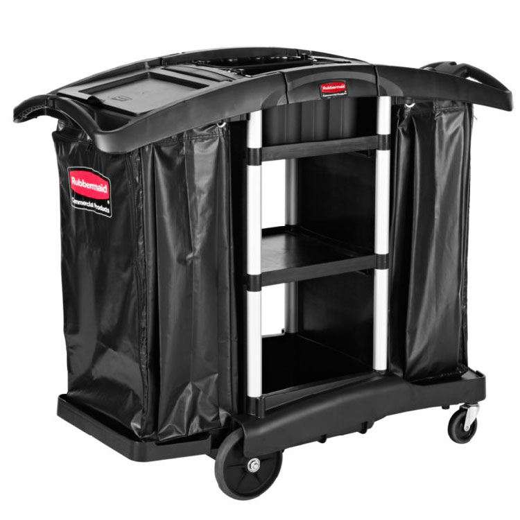 Rubbermaid 1861441 Executive Janitor Cleaning/Recycle Cart - High Capacity