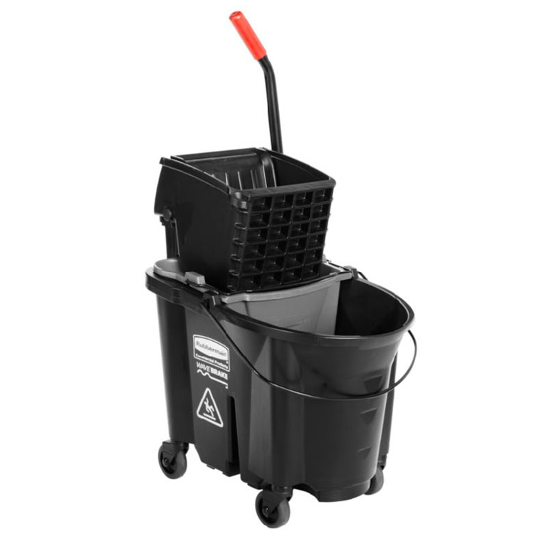 Rubbermaid 1863896 35-Qt Side Press Dirty Water Bucket Combo - Black