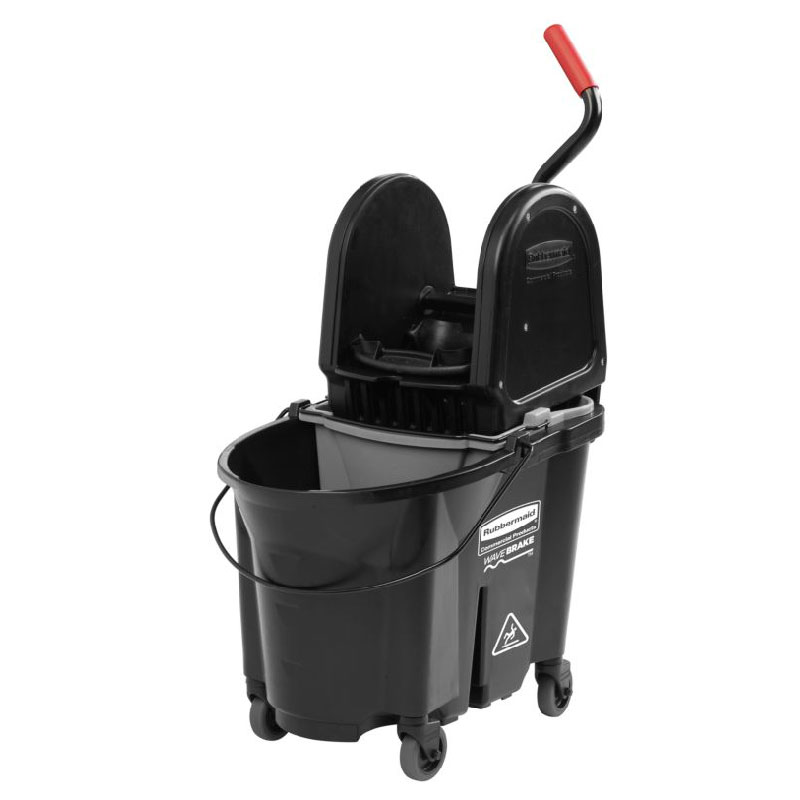 Rubbermaid 1863898 35-Qt Down Press Dirty Water Bucket Combo - Black