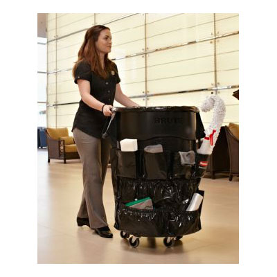 Rubbermaid 1867534 Round Plastic Trash Can Dolly w/ Raised Center & 250-lb Capacity