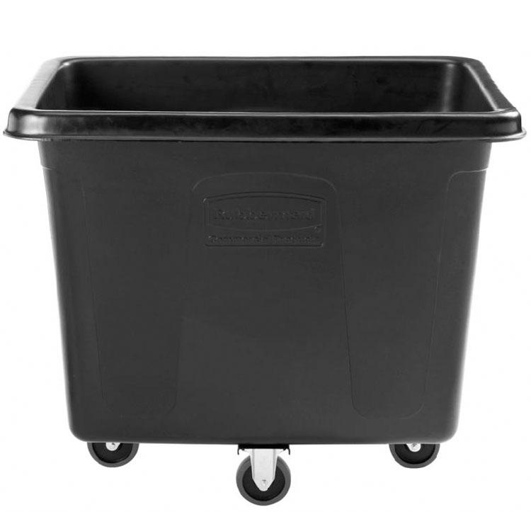 Rubbermaid 1867537 .6-cu yd Trash Cart w/ 500-lb Capacity, Black