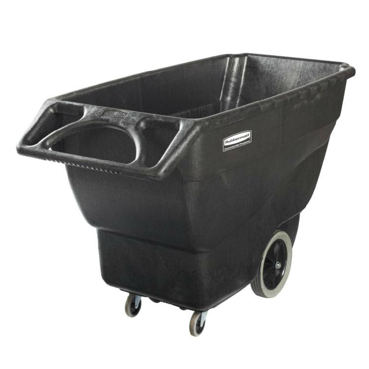 Rubbermaid 1867539 .75-cu yd Trash Cart w/ 600-lb Capacity, Black