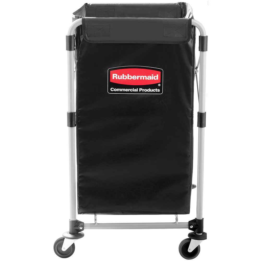 "Rubbermaid 1881749 Laundry Cart w/ Collapsible Basket, 24.2""L x 20.3""W x 34""H"