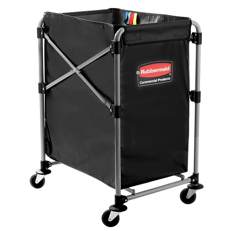 Rubbermaid 1881749 Laundry Cart W Collapsible Basket 24