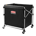 "Rubbermaid 1881750 Laundry Cart w/ Collapsible Basket, 35.7""L x 24.1""W x 34""H"