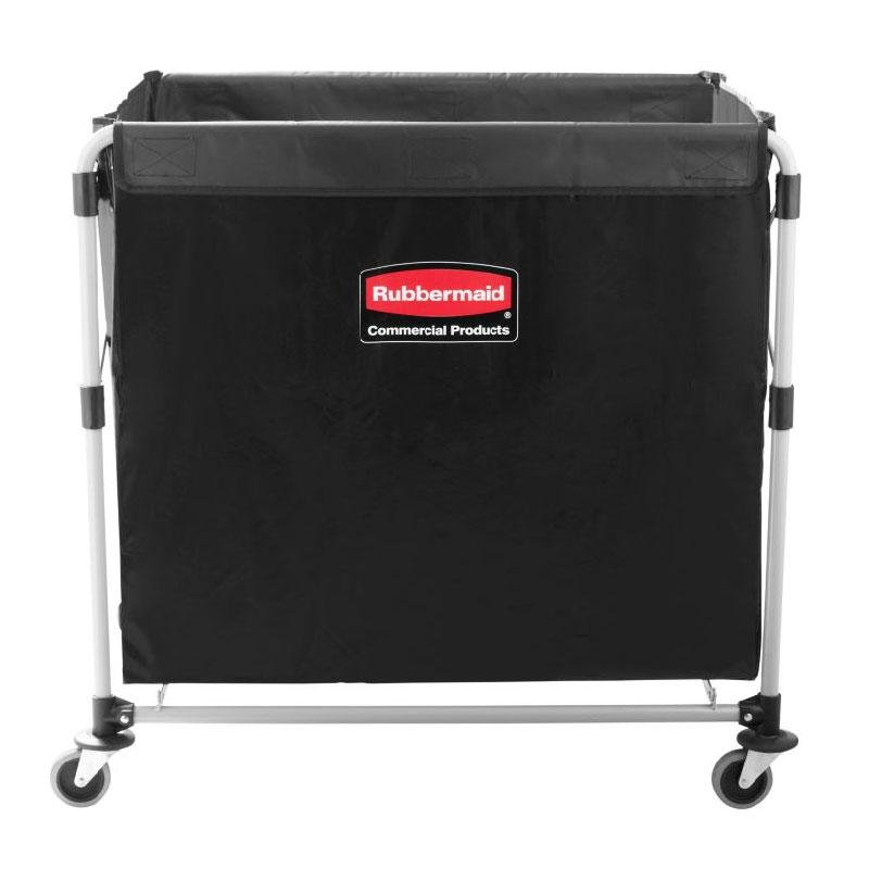 "Rubbermaid 1881750 Laundry Cart w/ Collapsible Basket, 35.7""L x 24.1""W x 34""H"