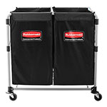 Rubbermaid 1881781 Executive Collapsible X-Cart - (2) 4-Bushel Bags
