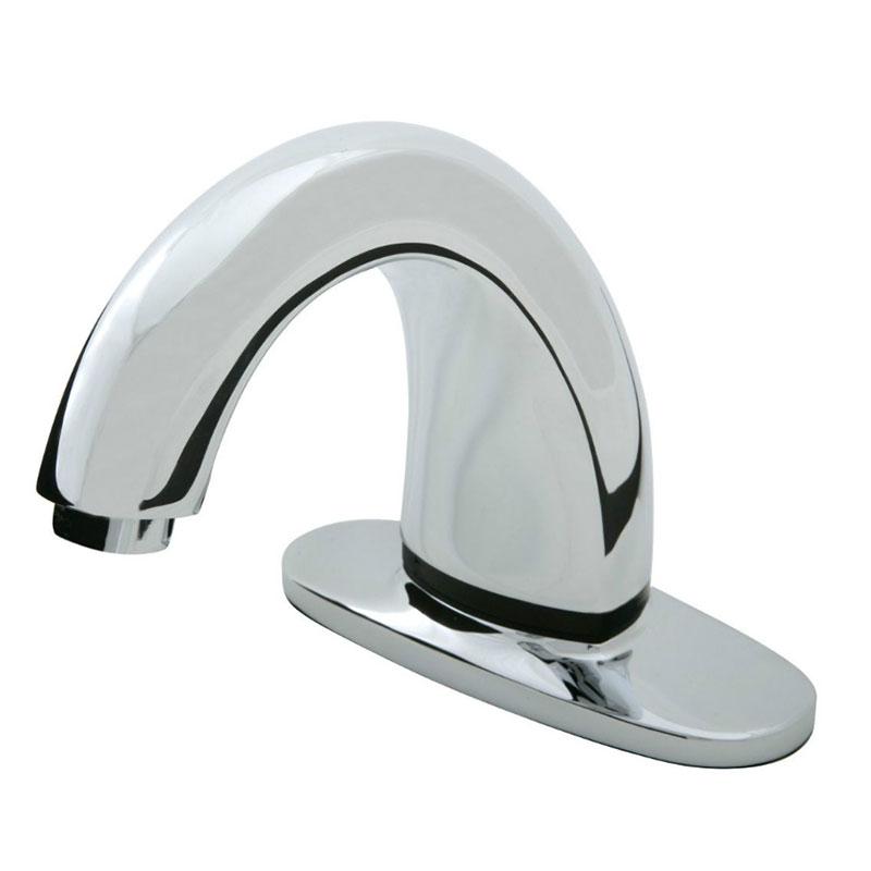 Rubbermaid 1903200 Deck Mount Auto Faucet - Valve Control Module, Touch Free, Polished Chrome