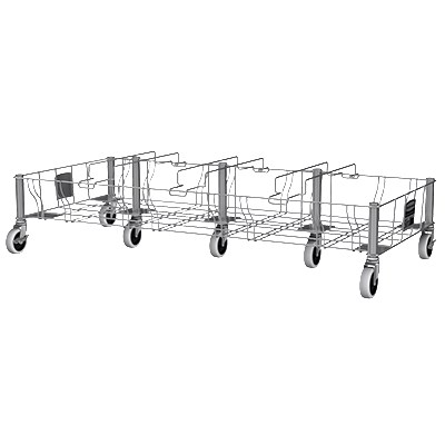 Rubbermaid 1956193 Quadruple Slim Jim Dolly - 400-lb Capacity, Stainless
