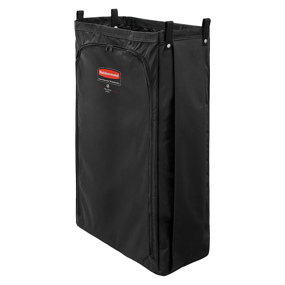 Rubbermaid 1966890 Heavy Duty Housekeeping Cart Bag, Black
