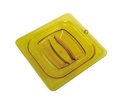 Rubbermaid FG208P23AMBR Hot Food Pan Cover - 1/6 Size, Amber