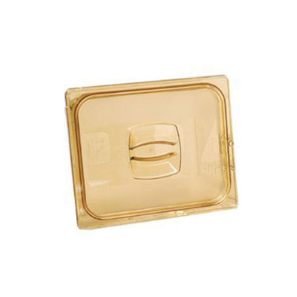 Rubbermaid FG214P00AMBR Hot Food Pan Cover - 1/4 Size, Amber