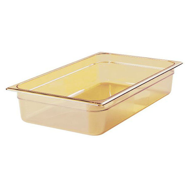 "Rubbermaid FG231P00AMBR Hot Food Pan - Full Size, 4"" Deep, Poly, Amber"