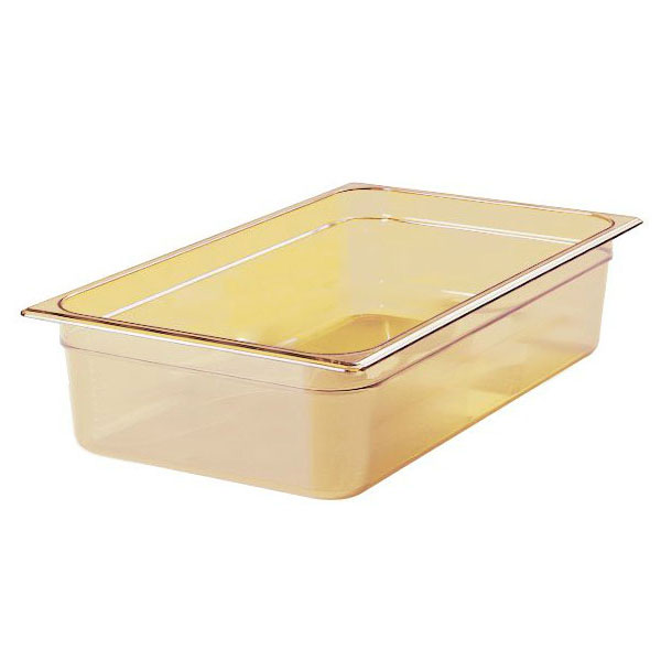 "Rubbermaid FG232P00AMBR Hot Food Pan - Full Size, 6"" Deep, Poly, Amber"