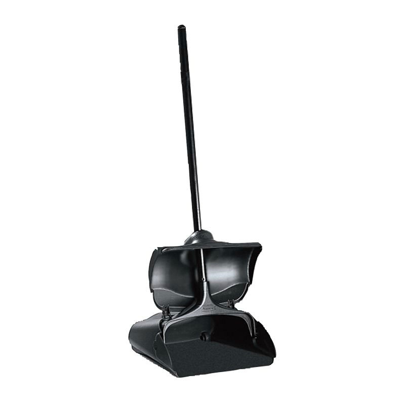 Rubbermaid FG253200BLA Lobby Pro Upright Dust Pan with Cover - Black