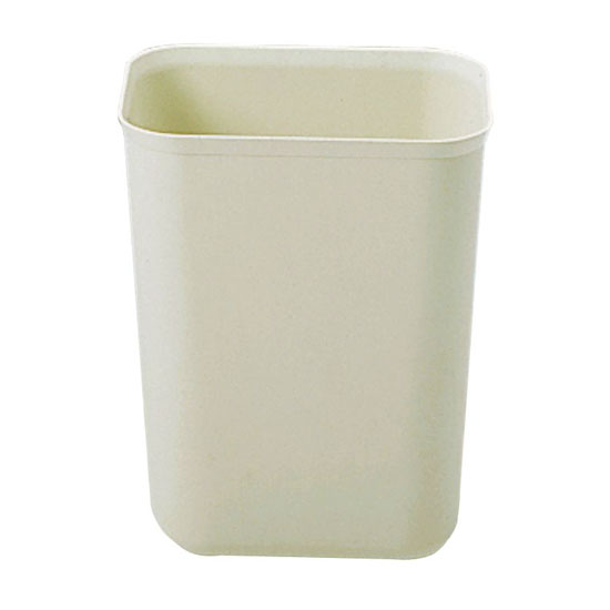 Rubbermaid FG254000BEIG 7-qt Rectangle Waste Basket - Plastic, Beige