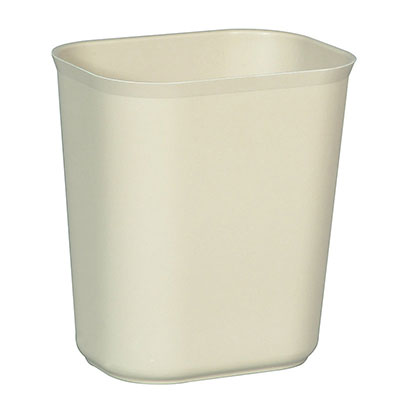Rubbermaid FG254100BEIG 14-qt Waste Basket - Fire Resistant, Beige
