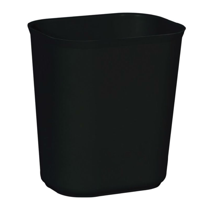 Rubbermaid FG254100BLA 14-qt Waste Basket - Fire Resistant, Black