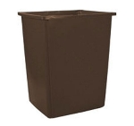 Rubbermaid FG256B00BRN 56-gal Glutton Garbage Container - Brown