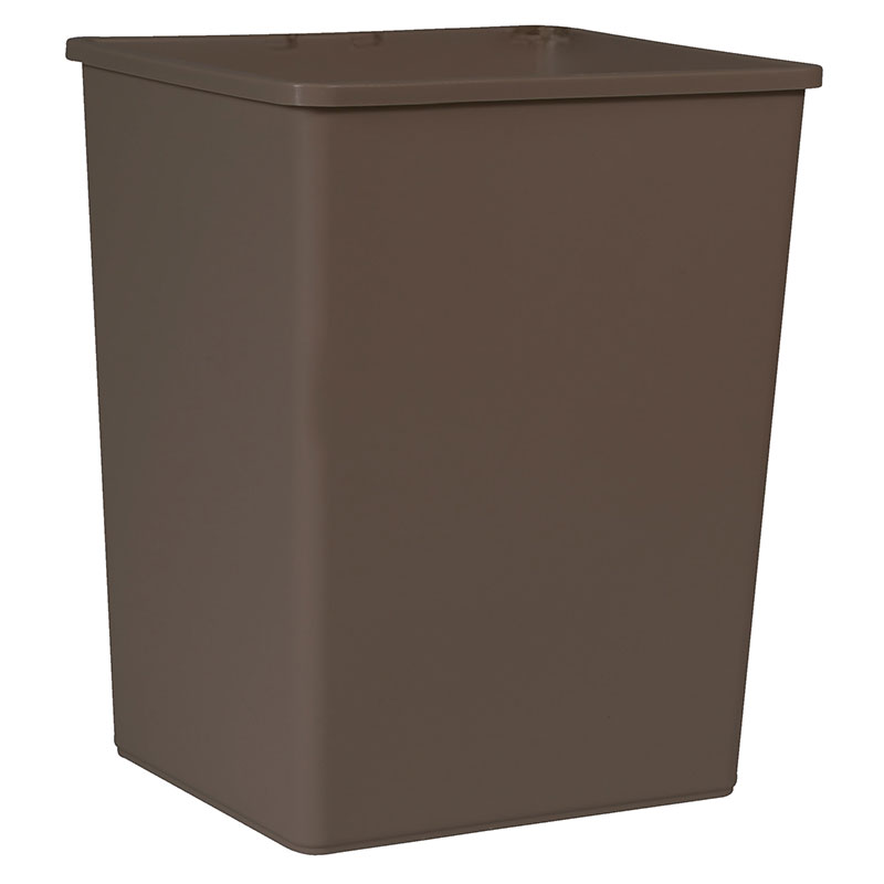 Rubbermaid FG256B00BRN 56-gallon Commercial Trash Can - Plastic, Rectangular