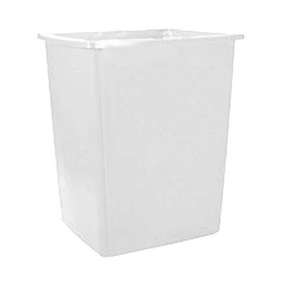 Rubbermaid FG256B00OWHT 56-gallon Commercial Trash Can - Plastic, Rectangular