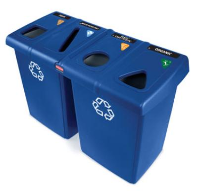 Rubbermaid FG256R73BLUE Glutton Recycling Station Restaurant Supply