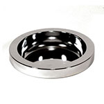 "Rubbermaid FG258800CHRM 10-5/8"" Round Classic Ashtray Top - Chrome"