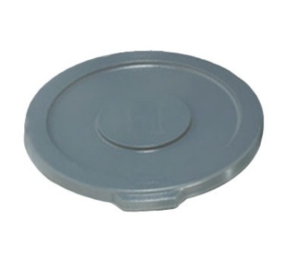 "Rubbermaid FG260900GRAY 16"" Round BRUTE Container Lid - Gray"