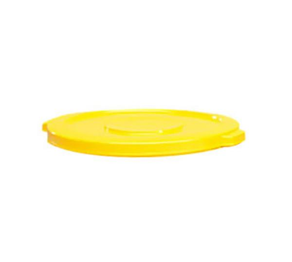 "Rubbermaid FG261960YEL 19-7/8"" BRUTE Container Lid - Yellow"