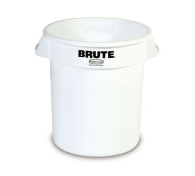 Rubbermaid FG261000WHT 10-gal Round BRUTE Container - White