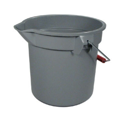 Rubbermaid FG261400GRAY 14-qt BRUTE Bucket - Gray