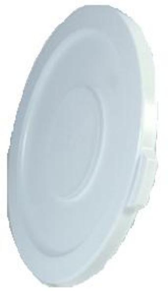 "Rubbermaid FG261960WHT 19-7/8"" BRUTE Container Lid - White"