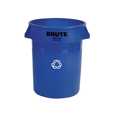 Rubbermaid FG262073BLUE 20-gal BRUTE Recycling Container - Blue