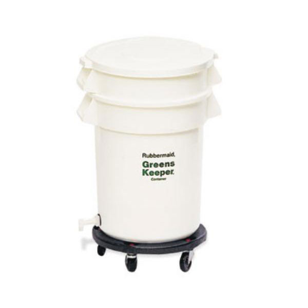 Rubbermaid FG263600WHT 32-gal ProSave BRUTE Container with Dolly - White
