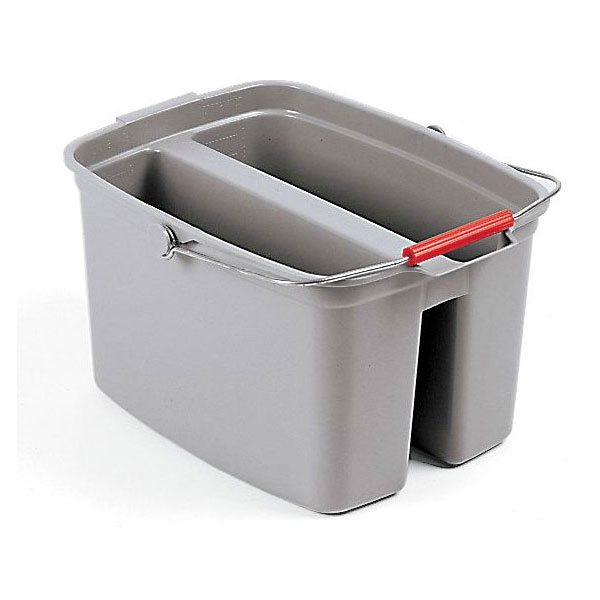 Rubbermaid FG262888GRAY 19-qt Double Pail - Gray