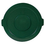 Rubbermaid FG263100DGRN Round Flat Top Trash Can Lid - Plastic, Dark Green