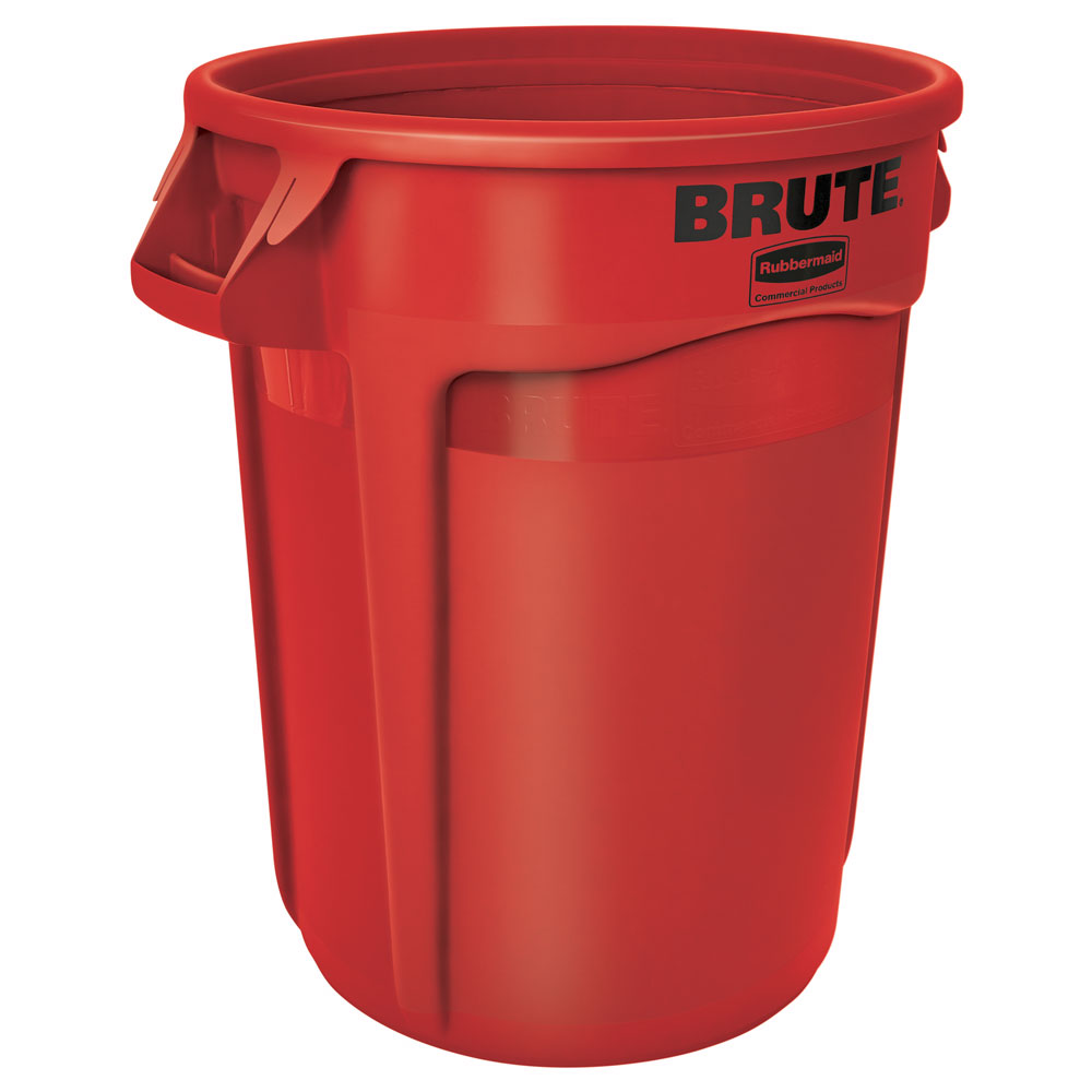 Rubbermaid FG263200RED 32-gallon Brute Trash Can - Plastic, Round, Food Rated