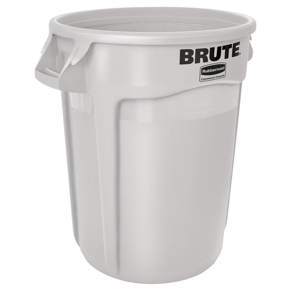 Rubbermaid FG263200WHT 32-gallon Brute Trash Can - Plasti...
