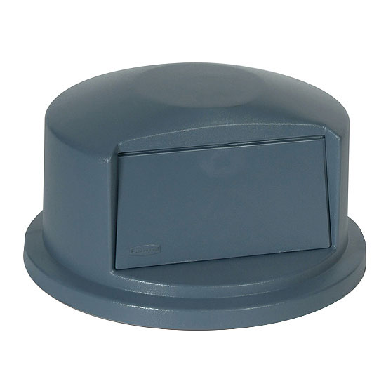 Rubbermaid FG263788GRAY Round Dome Trash Can Lid - Plastic, Gray