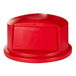 Rubbermaid FG263788RED Round, Dome Trash Can Lid - Plastic, Red