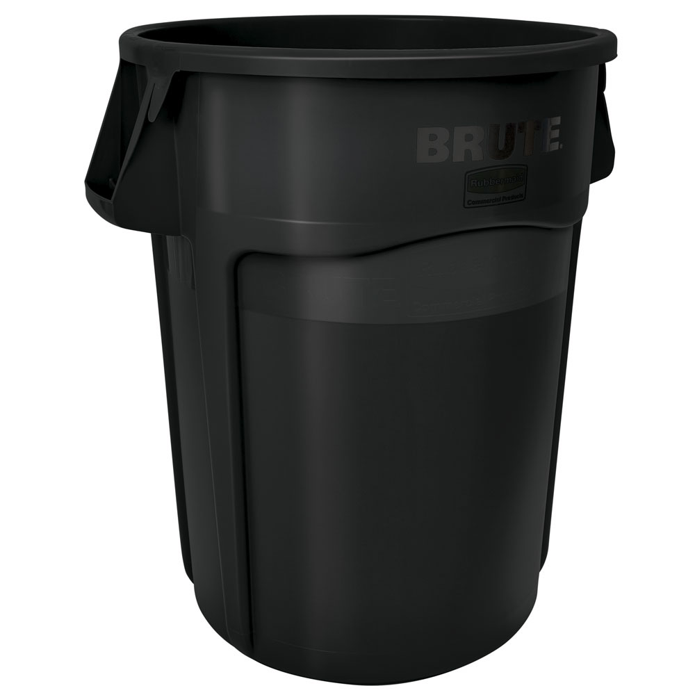 Rubbermaid FG264360BLA 44-gal BRUTE Recycling Container - Venting Channels, Black