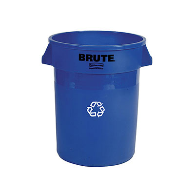 Rubbermaid FG264373BLUE 44-gal Multiple Material Recycle Bin - Indoor/Outdoor