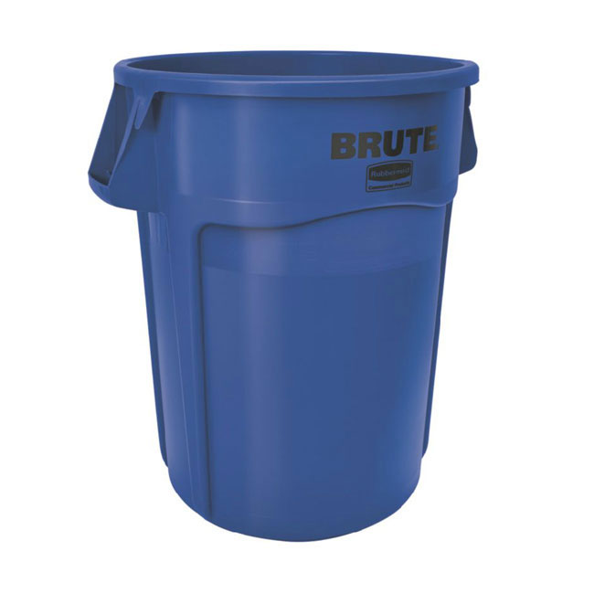 Rubbermaid FG264300BLUE Brute Trash Container 44 Gallon Heavy Duty Use Blue Restaurant Supply