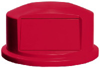 """Rubbermaid FG265788RED 27-1/4"""" Round BRUTE Dome Top - Red"""