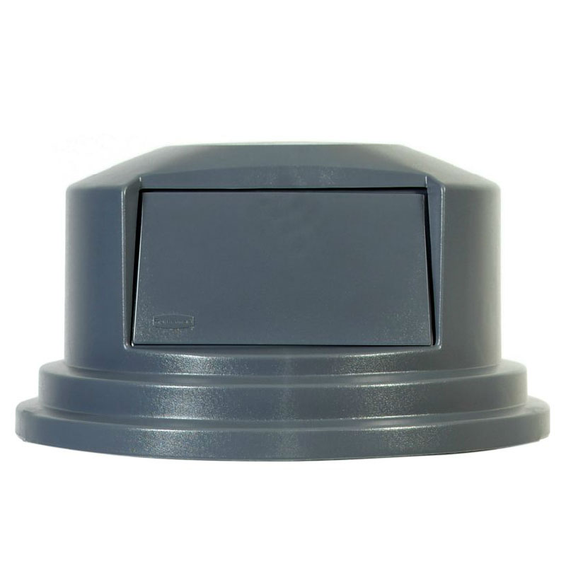"Rubbermaid FG265788GRAY 27-1/4"" Round BRUTE Dome Top - Gray"