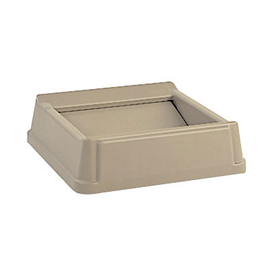 "Rubbermaid FG266400BEIG 20-1/8"" Square Untouchable Container Top - Beige"