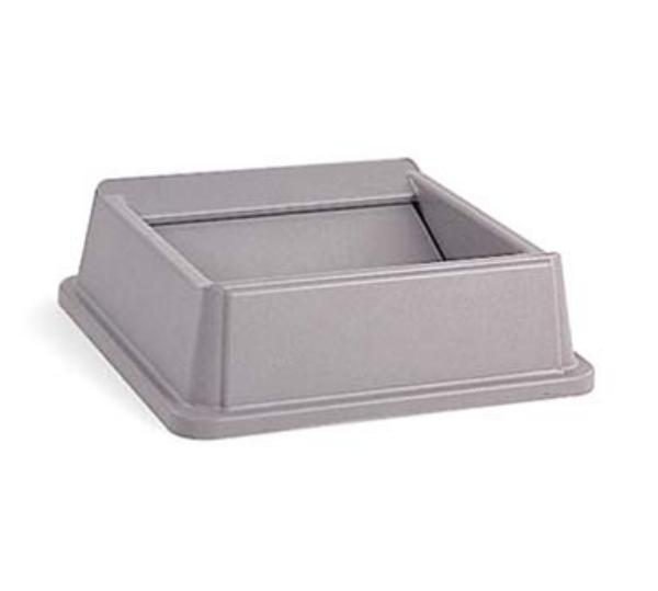 "Rubbermaid FG266400GRAY 20-1/8"" Square Untouchable Container Top - Gray"